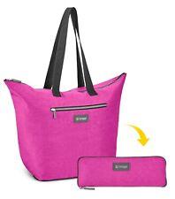 NEW! Biaggi Large Micro Fold Tote - Magenta - Packs Into Small Bag! Fast Ship!