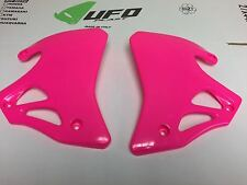 Honda CR 125 250 500 1995 1996 Pink Radiator shrouds Covers Left Right UFO
