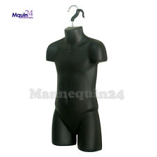 Child Torso Hanging Mannequin With Hanger - Black Kids Forms