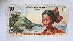 France ANTILLES Martinique Guyane 1964 billet 10 francs SUP  rare