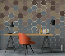 New Listing3D Hexagon Graphics Zhua8166 Wallpaper Wall Murals Removable Self-adhesive Amy