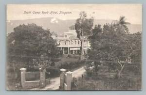 South Camp Road Hotel KINGSTON Jamaica Antique Postcard Stamp Cover 1900s
