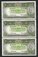 Australia R-34. (1961) 1 Pound.. Coombs/Wilson. Reserve Bank. CONSEC Trio.. aUNC
