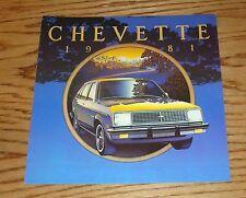Original 1981 Chevrolet Chevette Sales Brochure 81 Chevy
