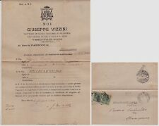 NOTO: 1921dal Vescovado il teologo G. Vizzini avvisa il parroco di Spaccaforno..