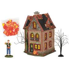 Dept 56 Halloween Spider House Snow Village New 2020 6005481 Silver Series