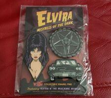Elvira Mistress Of The Dark Cavitycolors Enamel Pin Set SUPER RARE LE of 200!!