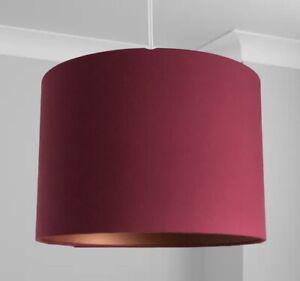 New HQ Stunning HQ Bronze Finish Matt Classic Red Wine Lamp Shade Pendant 30 Cm
