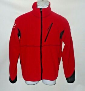 Pearl Izumi Men N Fleece Lined Jacket Red Cycling Riding Full Zip Wind block