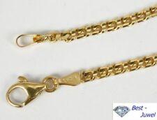 Halsketten und Anhänger ohne Steine im Collier-Stil aus echtem Edelmetall Karabinerverschluss für Damen