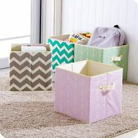 2pc Foldable Canvas Storage Collapsible Box Clothes Home Organizer Fabric Cube