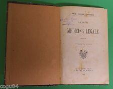 Lezione di Medicina Legale - Prof. C. Lombroso - 1^ Edizione Fratelli Bocca 1886
