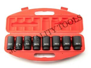 "9 PC 3/4"" DRIVE DR BLACK AIR IMPACT SAE SIZE SIZED DEEP SOCKET TOOL SET"
