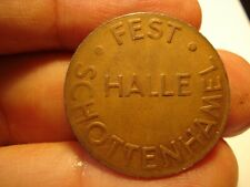 GERMANY   TOKEN FOR I L BEER  SCHOTTENHAMEL  FEST. HALL