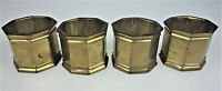 4 Brass Napkin Rings Octagons Neo Classical