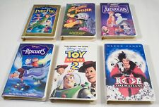 Lot (6) VHS Disney 101 DALMATIONS,PETER PAN,TOY STORY 2, THE RESCUERS,ARISTOCATS