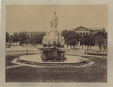 Nîmes Place de l'Esplanade et les Arènes 2 Photos Vintage albumine c 1880 & 1890