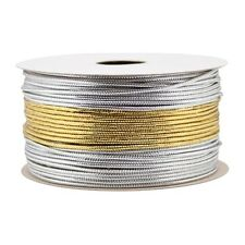 Holiday Christmas Gift Wrap Spritz Tinsel Cord - 3 End X 90 Ft Gold Silver