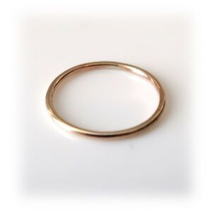 1mm Solid 9ct Yellow Gold Slim Round Wedding Band or Skinny Stacking Ring