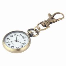 Quartz Keychain Round Dial Vintage Movement Key Chain Pocket Watch Keyring