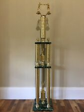 Beautiful Boxing Trophy 4 Post 3 Tier Huge 53.5 Inches Tall Man Cave Den, Nice