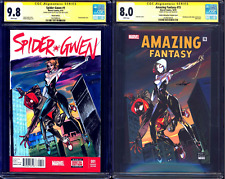 Spider-Gwen #1 BLANK CGC SS 9.8 + AMAZING FANTASY #15 signed by Celal CELOR Koc