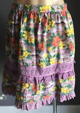 ONE TEASPOON Multi Colour Floral Print Tier Skirt Size 12 - 50's Inspired Retro