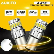 2x Auxito P21w 1156 7506 6500k Super Bright White Led Reverse Backup Lights Drl