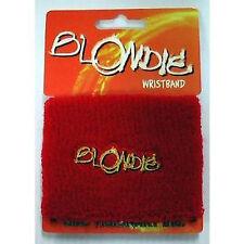 BLONDIE Yellow Logo Wristband Sweatband NEW OFFICIAL MERCHANDISE Debbie Harry