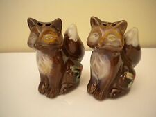Fox Salt and Pepper Shakers Holiday Foxes Mini Salt & Pepper Shakes NEW