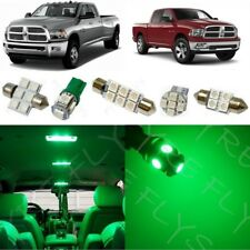 10x Green LED lights interior package kit for 2009-2015 Dodge Ram + Tool DR1G