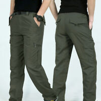 Men Outdoor Hiking Multi-pockets Solid Quick Dry Tactical Pants Clothes HOT Call