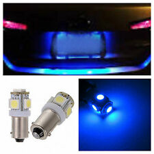 2x Ultra Blue T11 BA9s LED 5-SMD LIcense Plate Light Bulbs Map Lamp 57 64111 53