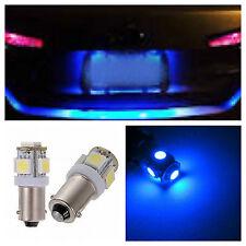 2x Ultra Blue T11 BA9s LED 5-SMD LIcense Plate Light Bulbs Map Lamp 57 64111 53