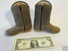 Vintage Western Boots Brown Leather Handmade Toddler Size 2