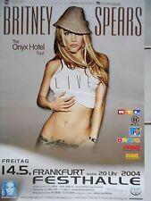 Britney Spears 2004 Orig. Concert Poster Francfort