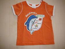 Cakewalk süßes T-Shirt Gr. 62 orange mit Delfin Druckmotiv !!