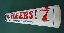 SEAGRAMS 7 GAME SPORTS CHEER CONE AMERICAS WHISKEY SCORE CARD