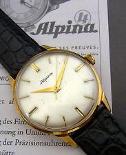 Eine schöne Armbanduhr.  Marke : Alpina  Material :585/-Gold cal.598