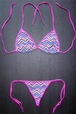 Sexy G-STRING BIKINI Pink Multi-Coloured Swimming Costume Ladies Thong Swimsuit