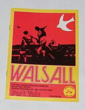 Walsall -v- Port Vale  1985-1986
