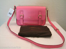 NWT Kate Spade Hot Pink Medium Essex Scout Leather Messenger Cross Body Bag $398