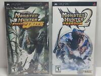 PSP Video Game Lot Monster Hunter Freedom Unite & Monster Hunter Freedom 2 CIB