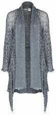 Sharanel sheer knit long jacket cardigan
