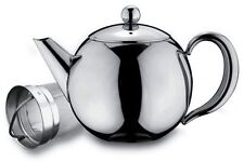 Rondeo Stainless Steel 1L 35oz Tea Pot With Infuser Non Drip Dishwasher Safe