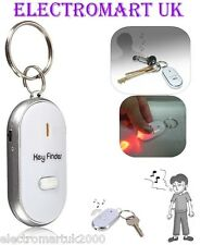 WHISTLE WHISTLING FLASHING KEY RING FINDER LOCATOR WITH RED LED TORCH LIGHT