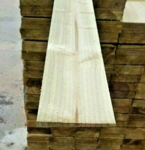 TANALISED FEATHER EDGE BOARD 15mm x 125mm x 2.4m