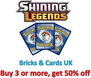 Pokemon TCG Shining Legends Trainer & Pokemon - Rare / Uncommon / Common Cards
