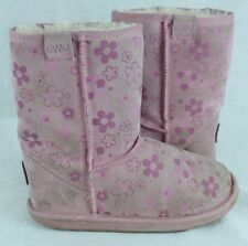 EMU Petal Girls Classic Lo Pink Flowers Winter Boots Size 3