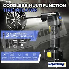 Electric 12V Cordless Tyre Inflator Tyre Pump Car Air Compressor w/ Digital LCD